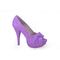 Peep Toe, Sapato Lilás Ideal Para Noivas! Lindo!!!