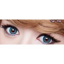 Olhos Cosplay - Lens Azul Eos Darrenblue - Pronta Entrega