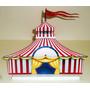 1 Display Tenda Circo Vintage Mesa Enfeite Festa Decoração
