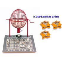 Globo Bingo Profissional Nº2 Com 300 Cartelas Vermelho