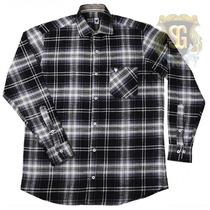 Camisa Flanela Xadrez Preta 6147 - Jaum Jaum