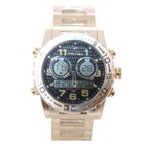 Relógio Masculino De Luxo Rip Curll Digital Dourado E Preto