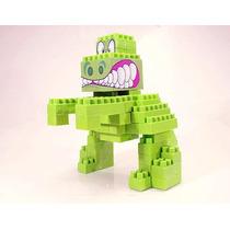 Blocos De Montar Smoby Dinossauro Verde Gulliver Brinquedos