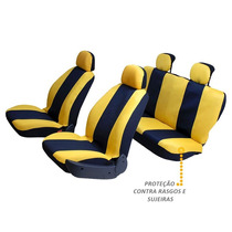 Capas Protetora De Bancos Automotivos Amarela C/ Preto