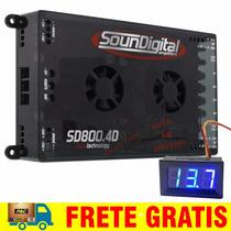 Modulo Soundigital Sd800 Sd800.4 800w Rms +voltímetro Grátis