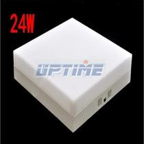 Painel Plafon Sobrepor Teto Led Quadrado 24w Frio/quente