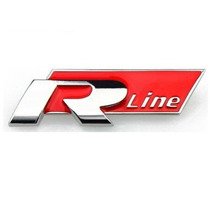 Emblema Rline Vw Jetta Passat Golf Tiguan Gol Fox Voyage