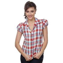 Camisa Feminina Xadrez Com Lurex