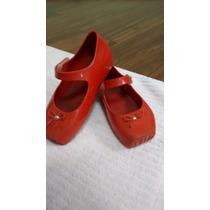 Mini Melissa Ballet Laço Vermelha