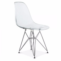 Cadeira Charles Eames Eiffel Transparente Metal - Design