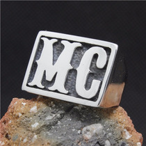 Anel Mc Aço Titanium Prata Importado Jimmy Joe Los Angeles