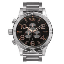 Relógio Masculino Nixon 51-30 Chrono Gray Rose Gold