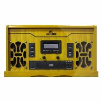 Vitrola 6 Em 1 Vinil/am/fm/ Cdmp3/aux/cassete/ Usb Recorder