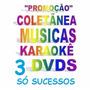 Coletânea 3 Dvds Karaokê Music Sertanejo Grandes Hits Forró