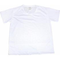 Kit 10 Camisas Infantis Branca Lisa 100% Algodão P/ Silk