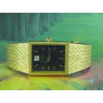 Relógio Bulova 92f08 Dial Preto E Pulseira Ouro