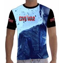 Camisa Camiseta Capitão América - Guerra Civil - 007