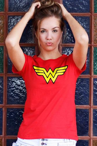 Kit 3 Camisetas Batman Wonder Woman Superman Femininas. Preço  R  119 Veja  MercadoLibre 4ffd017c80556