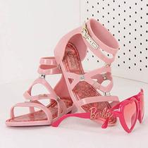 Sandália Infantil Grendene Barbie - 25 Ao 33 - Rosa