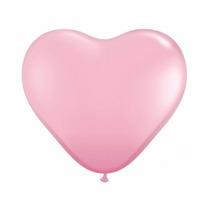 Balão Latex Bexiga Coração Rosa - Pct 25 Balões