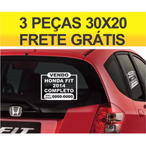 Adesivo Vende-se Vendo Veículo Carro 03 Peças Frete Gratis