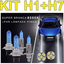 Kit Lampadas Super Branca Farol Alto Baixo Citroen C3 E C4