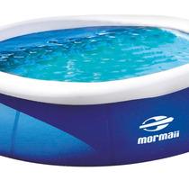 Piscina Redonda 4.600 Litros Azul/branco Mormaii - Promoção