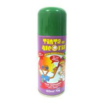 Tinta Da Alegria Spray Colorir Cabelos Carnaval Verde