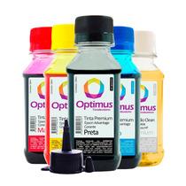Kit Tinta Para Epson Tx525fw Wf-3012 400ml + Fluído Limpeza