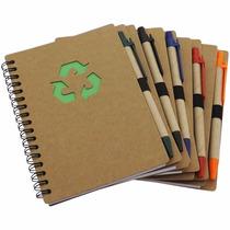 C/20 Agenda C/caneta Ecológica Caderno Bloco De Anotações,