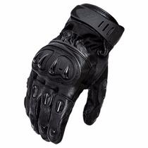 Luva X11 Impact Motociclista Couro + Proteção + Cano Curto