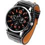 Relógio Design Diferente V6 Super Speed. Bracelete De Couro.