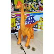 Dinossauro Anda, Coloca Ovo E Projeta Imagem No Chão - 43 Cm