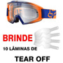 Oculos Fox Mx Main Race 2016 Laranja / Azul Cross Trilha