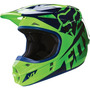Capacete Cross Fox V1 Race Verde / Preto