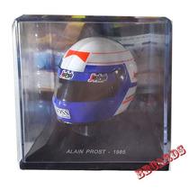 Miniatura Capacete F1 Alain Prost 1985 Formula 1 Escala 1/5