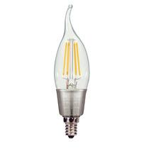Antique Filament Led 4.5 Watt 2700k Ca11 E12 Base De Bulb -