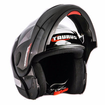 Capacete Taurus Zarref Classic Preto Robocop - Articulado