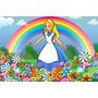 Painel 2.00x1.00 Festa Infantil Alice No País Das Maravilhas