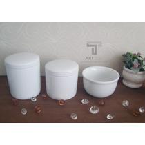 Kit Higiêne Com 3 Peças Porcelana