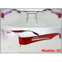 Óculos P57 Luxo Acetato C/ Metal Masculino Feminino Unissex