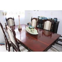 Mesa De Jantar Antiga Toda Restaurada
