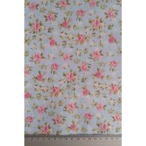 Tecido Floral L 100% Algodão - 1,00 X 1,50 M