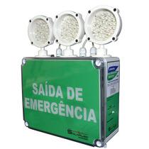 Luminária Saída De Emergência Led 3000 Lúmens - Solarled