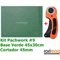Kit Base De Corte 45x30cm + Cortador 45mm Patchwork #9