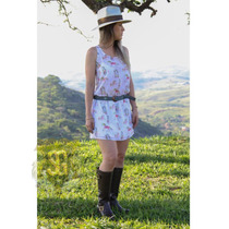 Vestido Country Estampa Exclusiva Selaria Guiricema
