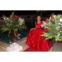 Vestido Vermelho Longo Festa Menina 8 A 10 Anos