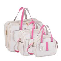 Kit Bolsa Maternidade Soft Gray-pink Fazendo Arte (3p)