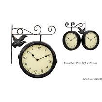 Relógio De Parede Vintage Retrô Envelhecido Antigo