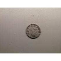Moeda Usa One Dime 1853 Sem Seta Prata